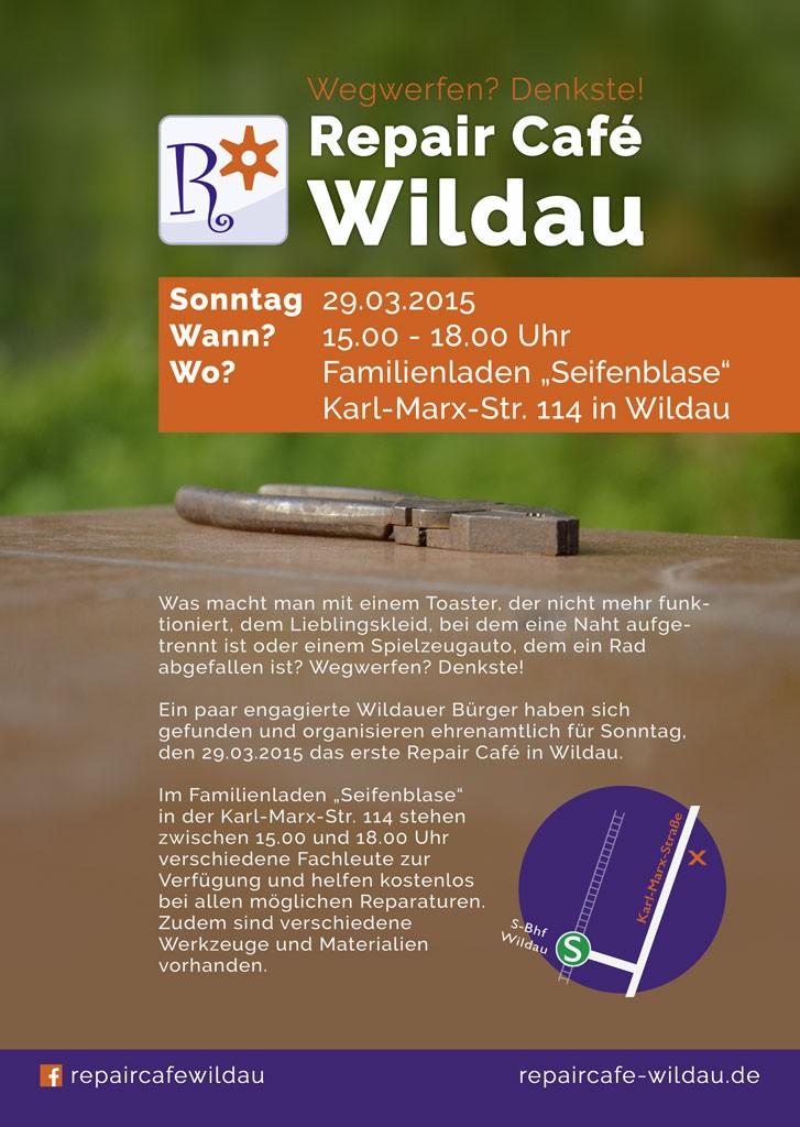 Repair Cafe Wildau Plakat