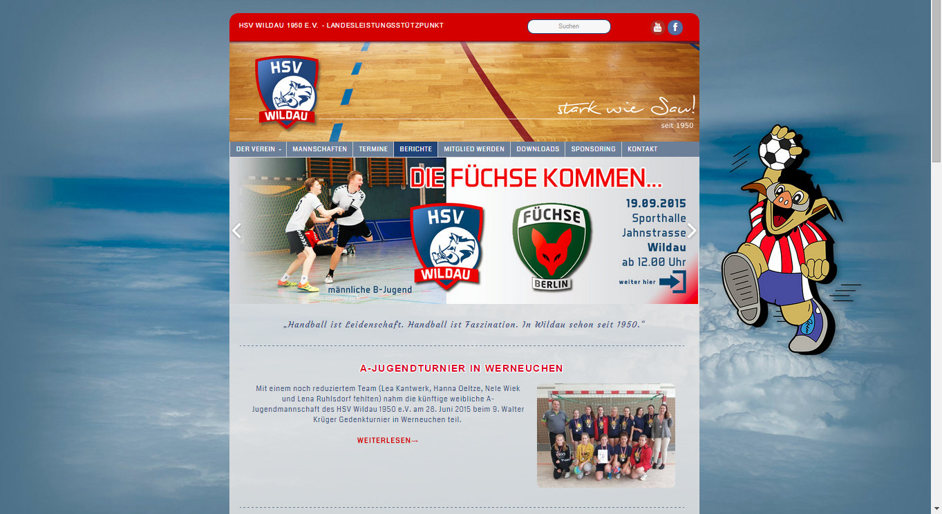 hsv-wildau-webseite-screenshot
