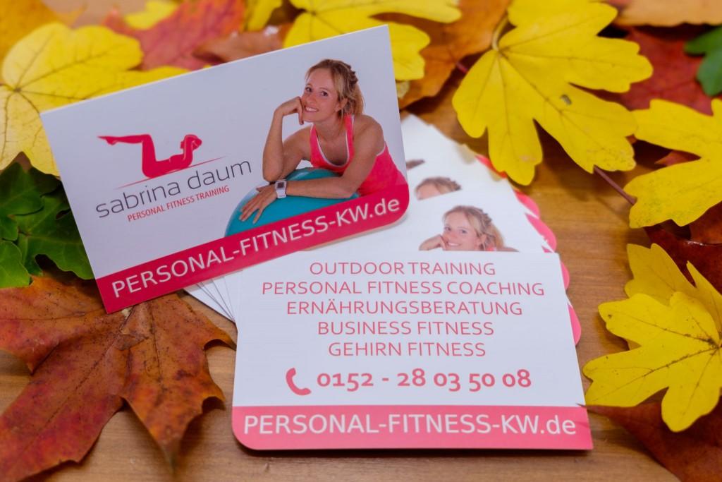 Visitenkarten Sabrina Daum Personal Fitness KW