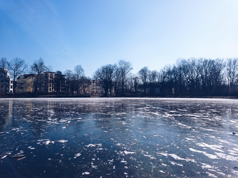 Ice in pankow, berlin germany, 2018